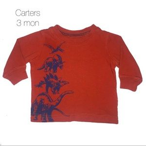 Carters Orange Rust Dino Long Sleeve Tee 3 mon